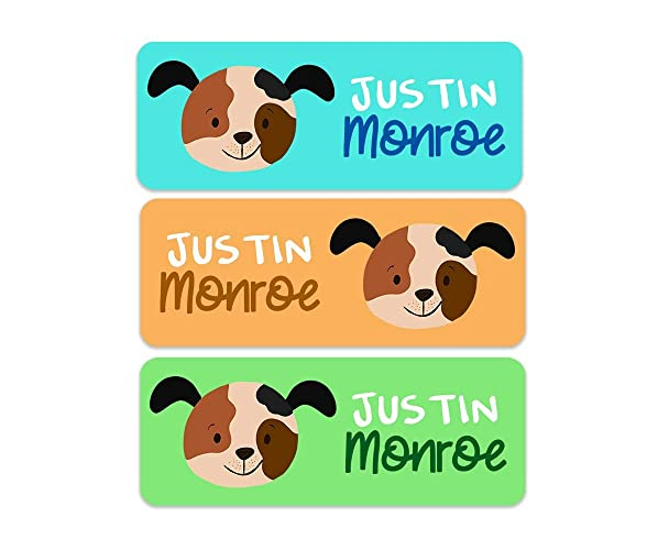 Amazon com: Waterproof Name Labels - Dog Name Labels - Boys