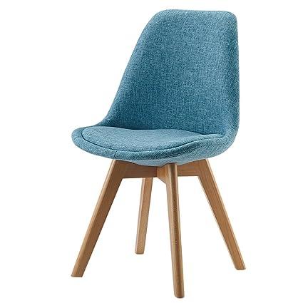 Interougehome Chaise De Style Scandinave Confortable Bleu Chaise De