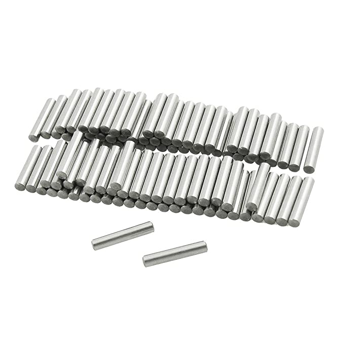 3 mm x 18 mm 100 Pcs Yesallwas Dowel Pin Stainless Steel Shelf Support Pin Metal Fasten Elements Used On Precise Location