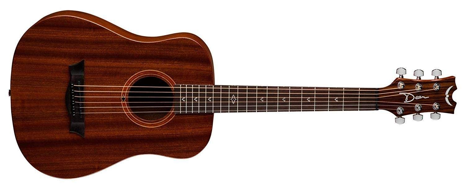Dean FLY MAH Flight Series 3/4 Size Travel Acoustic Guitar, Mahogany by Dean Guitars