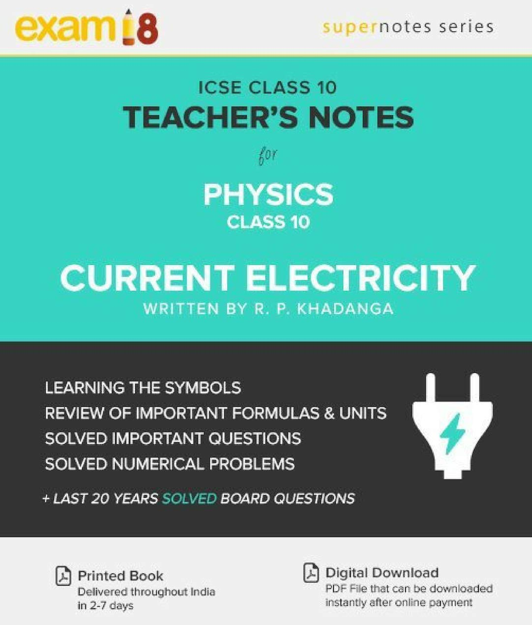 Amazon in: Buy Exam18 ICSE Physics Current Electricity Notes with