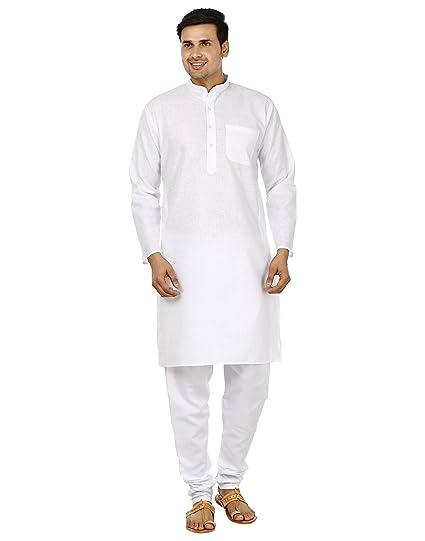 11164b35fc28 Amazon.com  Bollywood Designer Mens Kurta Pajama Set Ethnic Indian Party  Wear For Men  Clothing