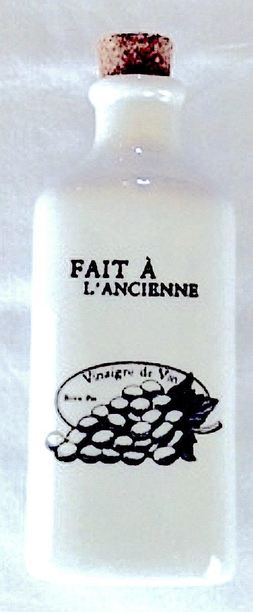 Fitz and Floyd Everyday White-Bistro Black Vinegar Bottle by Everyday White
