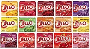 Amazon Com Jell O Gelatin Sampler Pack Of 15 Different