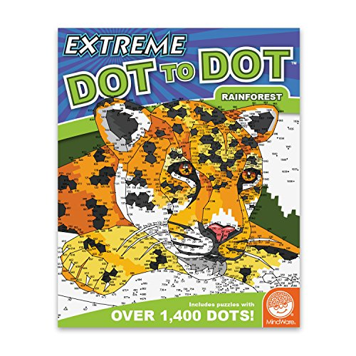 MindWare Extreme Dot to Dot Coloring: Rainforest
