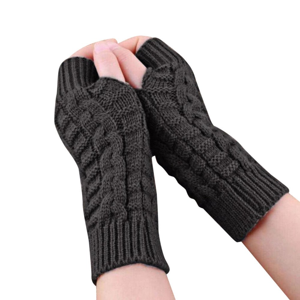 Kids Winter Soft Warm Knitted Gloves Mittens Cat Looking Thermal Full Finger Wrist Gloves Handwear Elastic Handwarmer Snowboard Skiing Winter Outdoor Costume Children 3-7 Years Old
