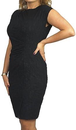Größen Kurzarm Schwarzes Sexy 52 Gr 40 Mit Große Berry Kleid roeBWCdx