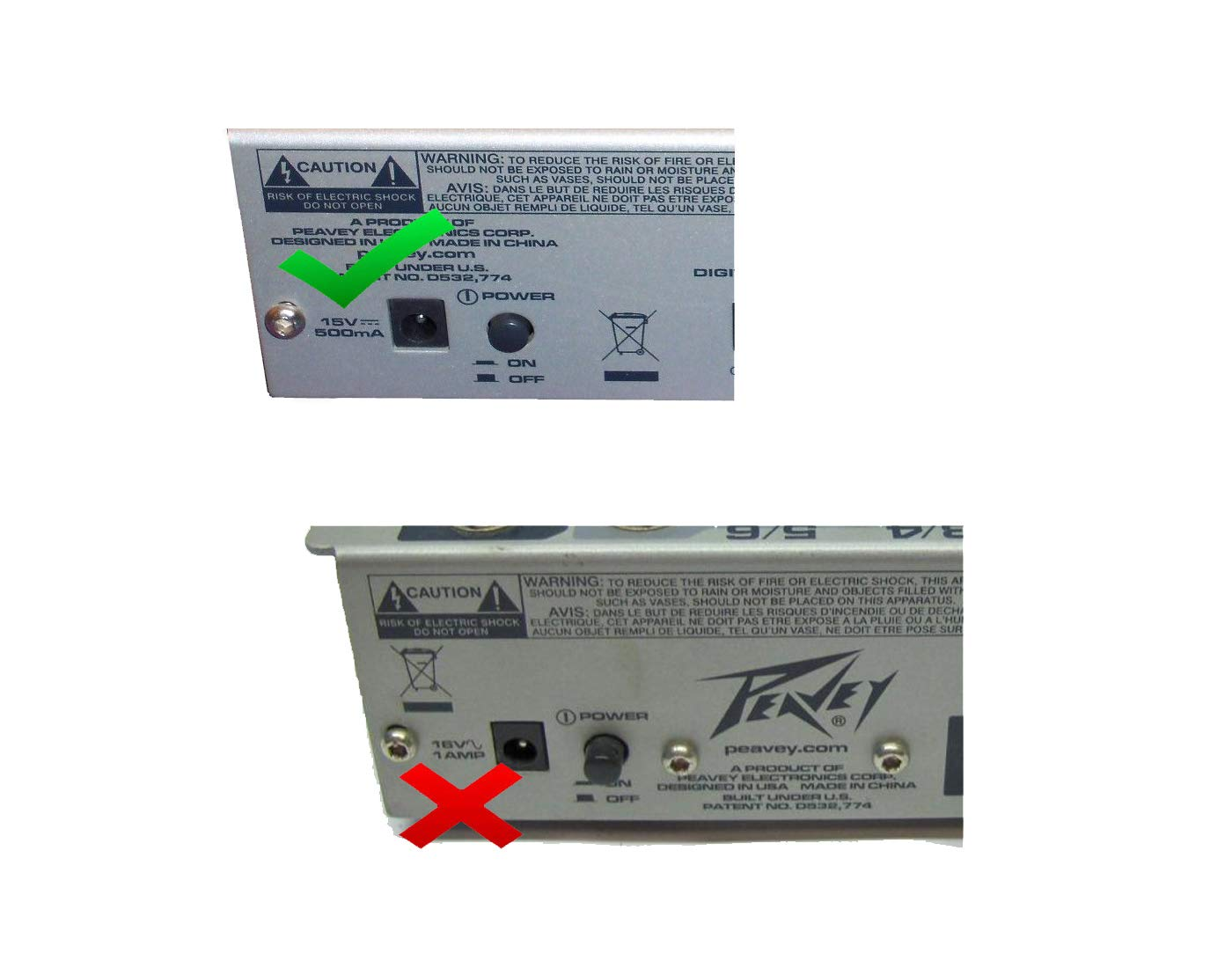 16 Volt AC Adapter PSU 16VAC Power Supply fits Peavey Deltafex Processor
