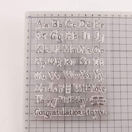 Healifty Fai da Te Francobollo Chiaro Scrapbooking Stampaggio Blocco Decorazione Timbro Decorativo per Creazione di Album Fotografici Diario Artigianale