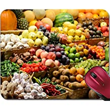 Liili Mousepad ID: 23318365 Fruit market with various colorful fresh fruits and vegetables Market series