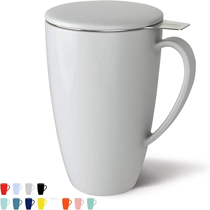 #1 BEST SELLING PORCELAIN TEA MUG WITH INFUSER!