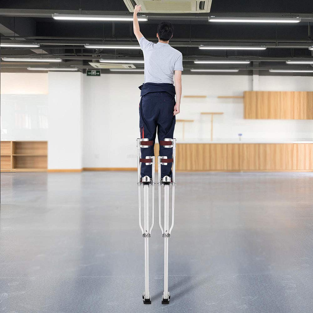 50-64 Aluminum Drywall Stilts Height Adjustable Lifts Tool for Sheetrock Painting Painter Taping ,US Delivery