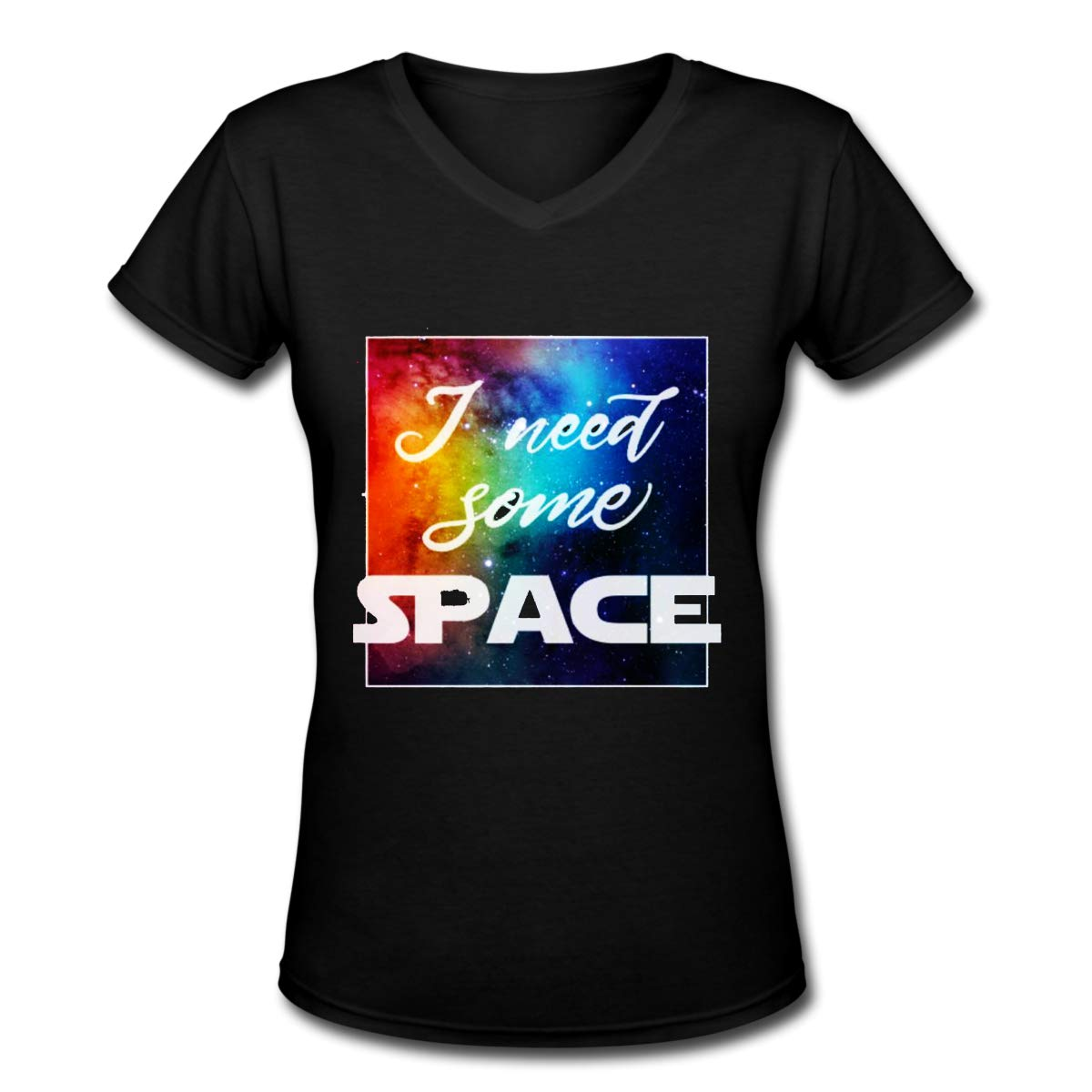 I Need Some Space Womens T Shirt Casual Cotton Short Sleeve V-Neck Graphic T-Shirt Tops Tees