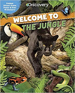 Discovery Welcome To The Jungle Foldout Sticker Scene Poster Over