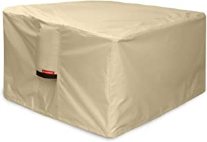 Porch Shield Fire Pit Cover - Waterproof 600D Heavy Duty Square Patio Fire Pit Table Cover Beige - 50 x 50 inch