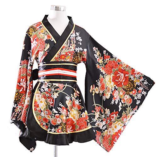 Kimono Bathrobe Costume Japanese Traditional Yukata Cosplay Women's