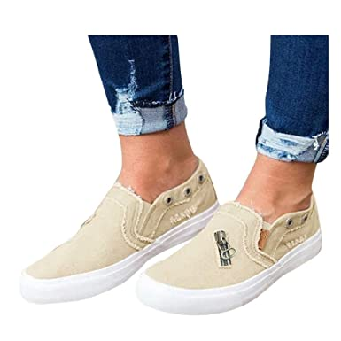 534f0f7c795c5 Womens Ankle Flat Suede Lace-up Sport Shoes Walking Running Casual Fashion  Sneakers (Beige
