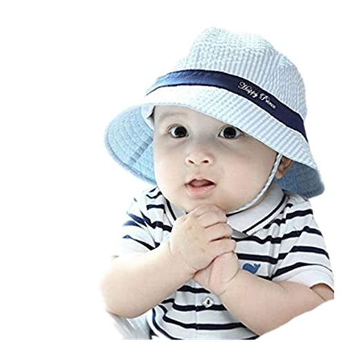 WENDYWU Baby   Toddler Flap Sun Protection Swim Summer Hat Baby Sun Hat  (Blue) f4ac955048e