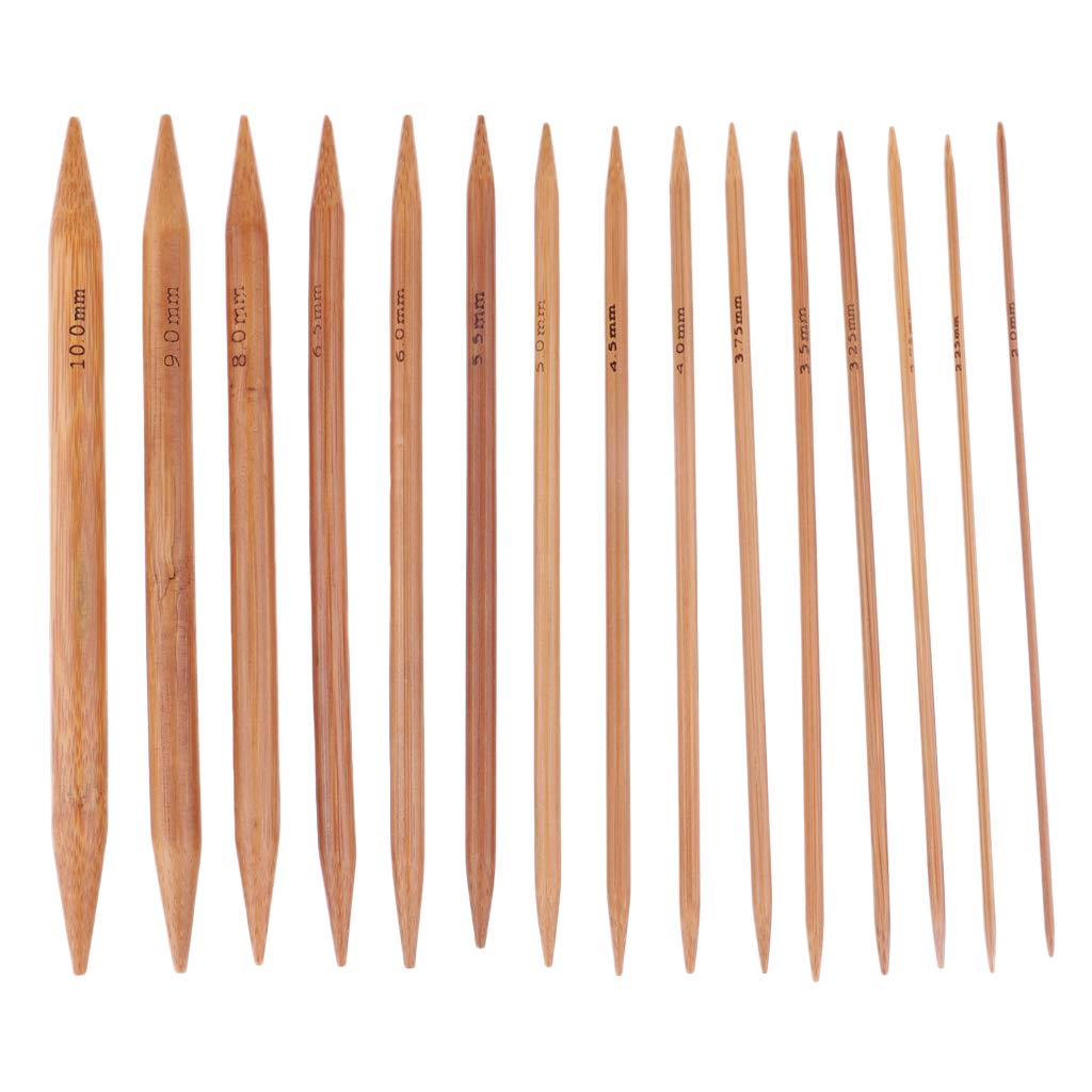 kesoto 18 Sizes 120cm Bamboo Circular Knitting Needles and 75 Pieces 15 Sizes Double Pointed Knitting Needles Sweater Knit Tools