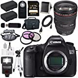 Canon EOS 5DS-R 5DSR DSLR Camera + EF 24-105mm f/4L IS USM Lens + LPE-6 Lithium Ion Battery + Canon 100ES EOS shoulder bag Bundle 6