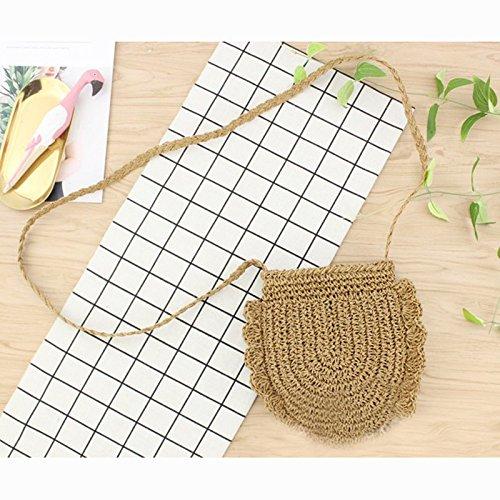 Donalworld Women Beach Bag Round Straw Crochet Shoulder Summer Bag Purse S Shlcf by Donalworld (Image #6)