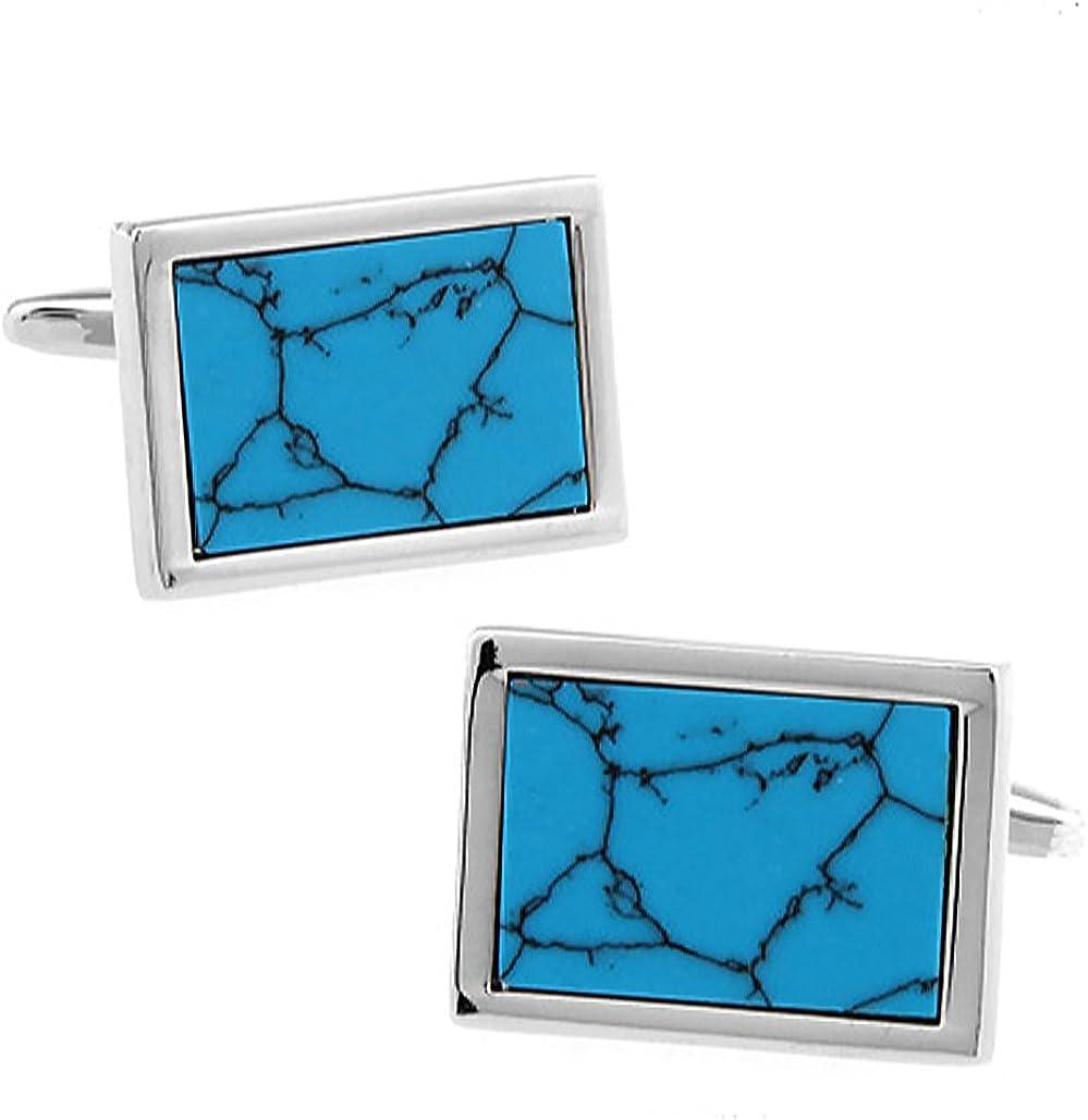 Ashton /& Finch Boutons de manchette turquoise 170740