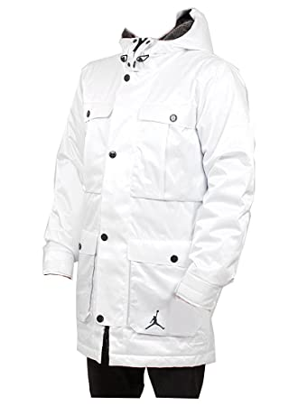 56f4a396757161 Nike Air Jordan Ultimate 3 in 1 Hooded Parker Winter Coat White Large