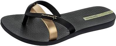 Ipanema Women's Silk Premium Flip Flops, Black (Black/Gold)