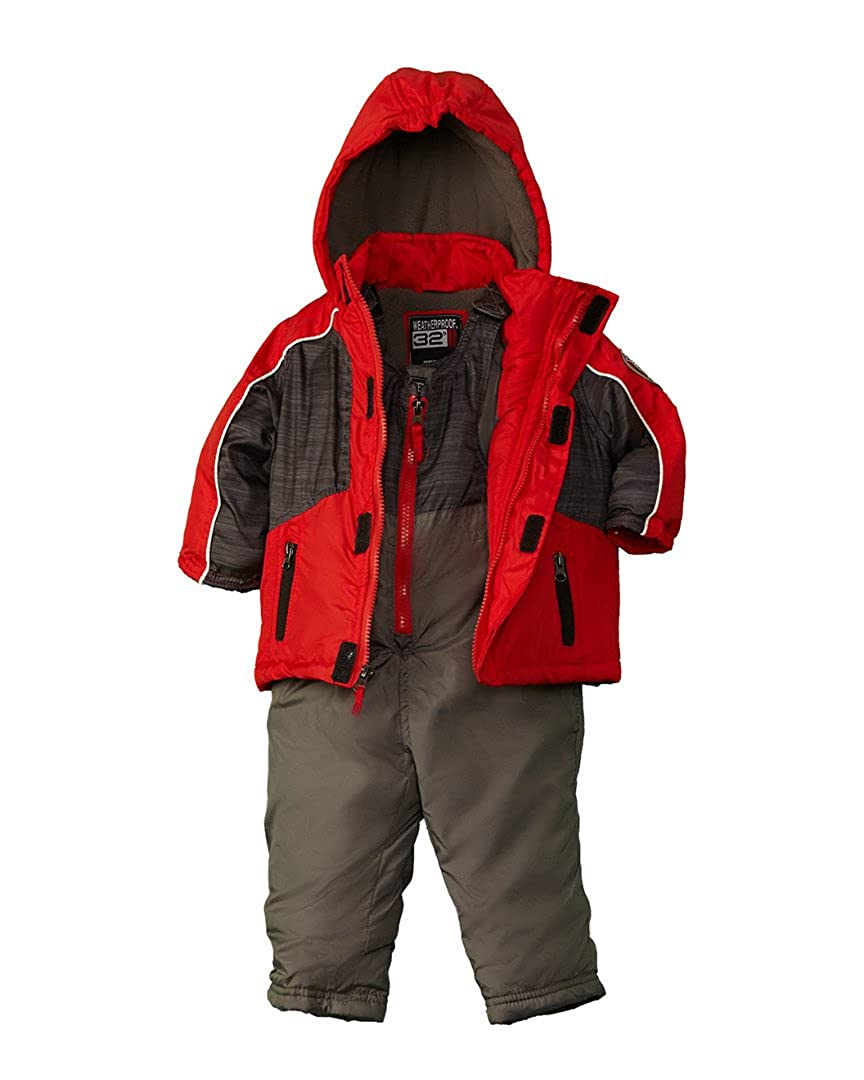 Weather Proof Baby Boys' Panel Jacket Snowsuit