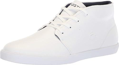 5d891eb99d359 Lacoste Men s Asparta 318 Leather Mid-Top Fashion Sneaker Shoes White Size 9