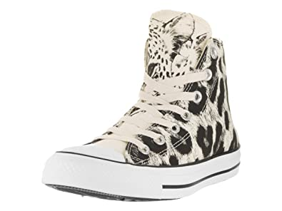 Converse Women's Chuck Taylor All Star Animal Print Hi Parchment/Black/White  Basketball Shoe