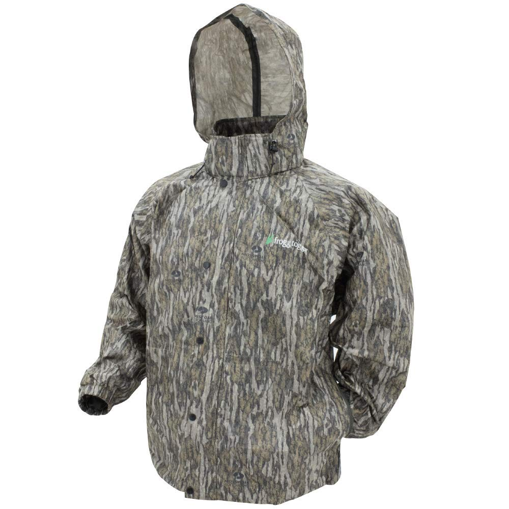 Frogg Toggs Men's Pro Action Waterproof Rain Jacket, Mossy Oak Bottomland, Large by Frogg Toggs
