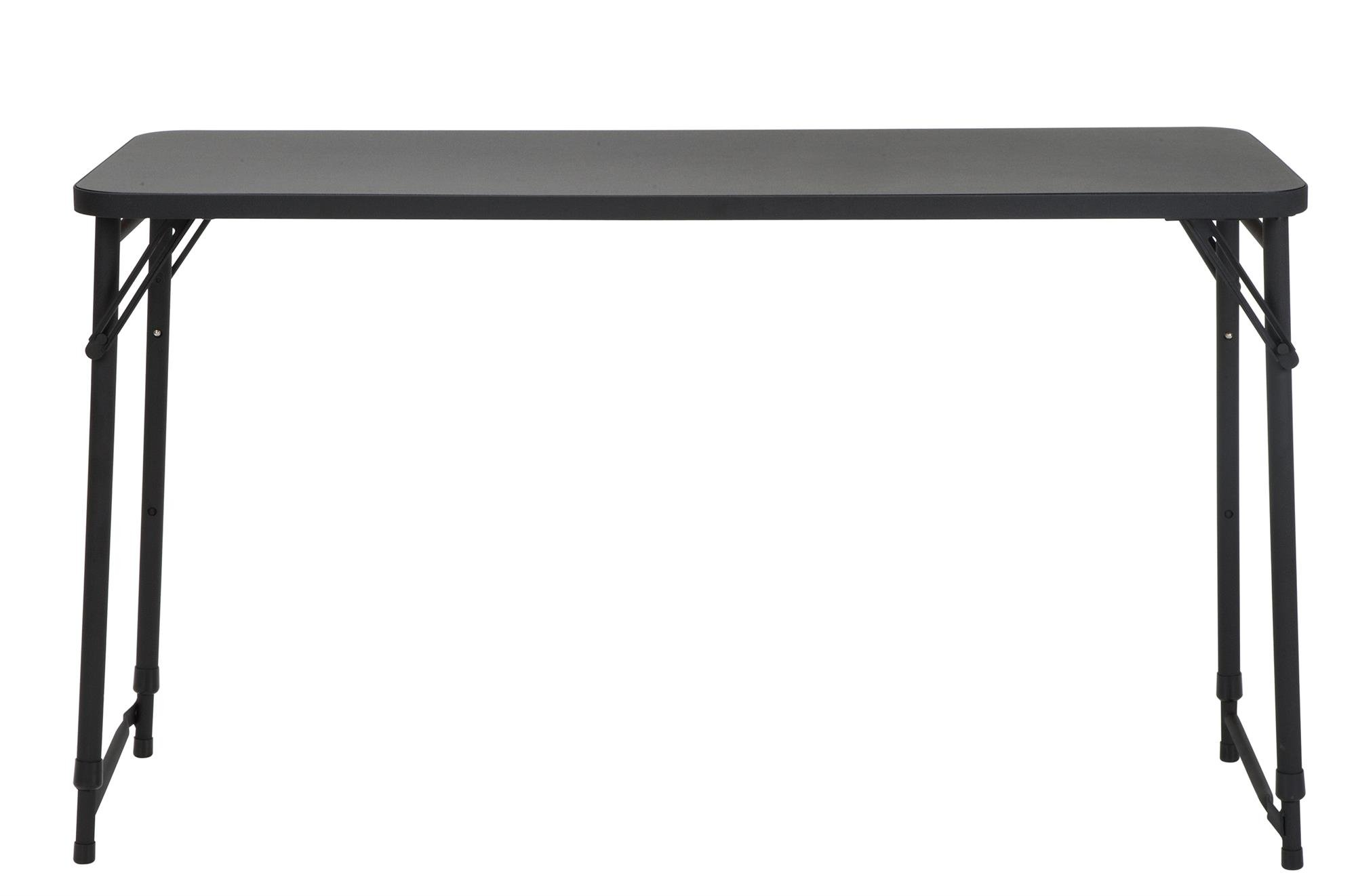 """CoscoProducts COSCO 20"""" x 48"""" Adjustable Height PVC Top Table, Black"""