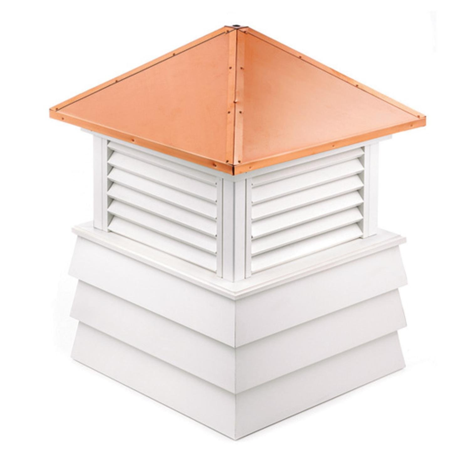 114'' Handcrafted ''Dover'' Copper Roof Vinyl Cupola by CC Home Furnishings