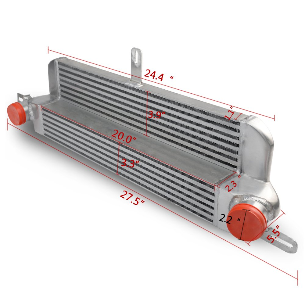 CHEAP Silver Turbo Aluminum Front Mount Intercooler For