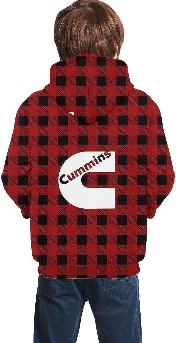 MACA1 Cummins Teen Boys Girls 3D Print Pullover Hoodies with Pocket Hooded Sweatshirt