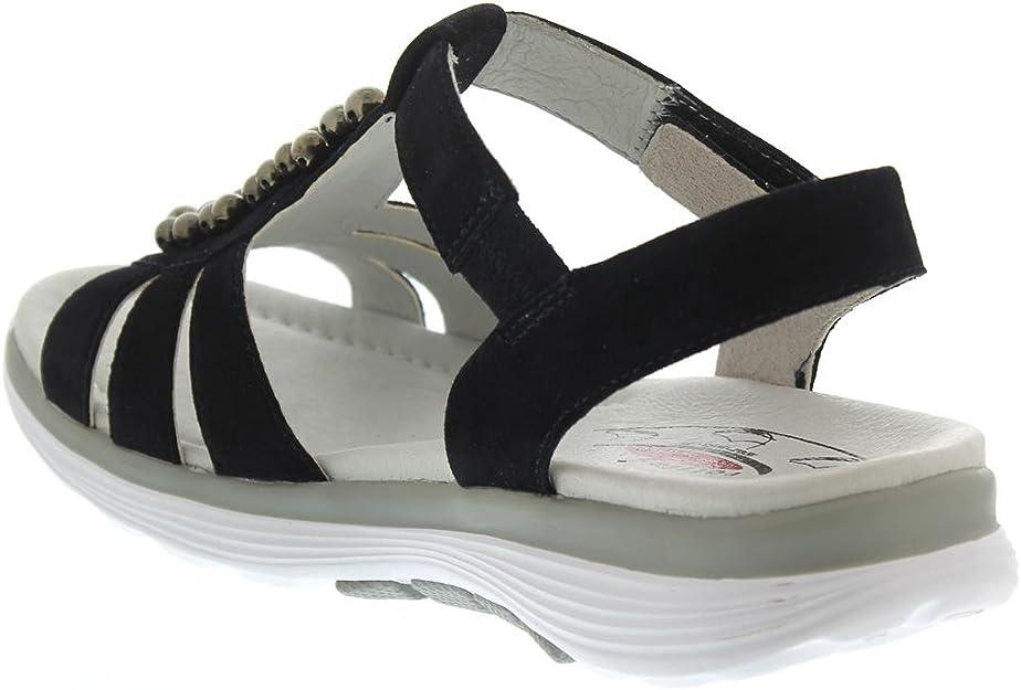 Gabor rollingsoft 86.912.26 suede sandal for women blue