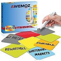 AWEMOZ® Scrum Whiteboard Magneten - 60 stuks - Magnetische Memoblaadjes - Kanban - 6 Kleuren (5 x 5 cm)