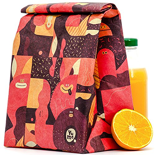 Yume Insulated Lunch Bags For Women   Designer Lunch Tote Bag   Cute Kids Lunch Bag   Lunch Box Bento Bag   Reusable Thermal Lunch Bag   Lunch Sack   Large Reusable Sandwich Bags  Sweet Smiles