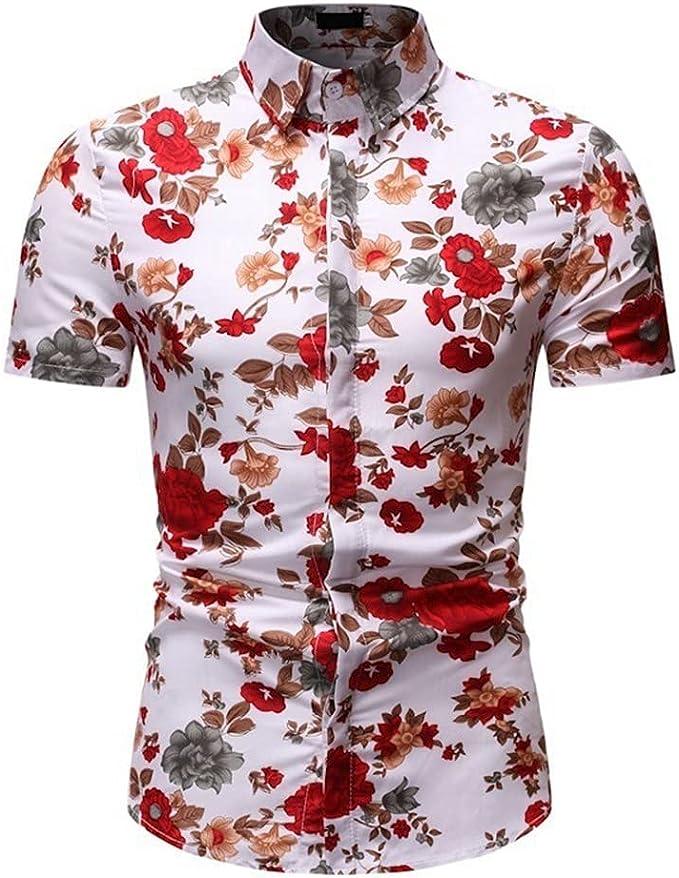 Camisa Manga Corta - Camisa Floral De Manga Corta De Verano ...