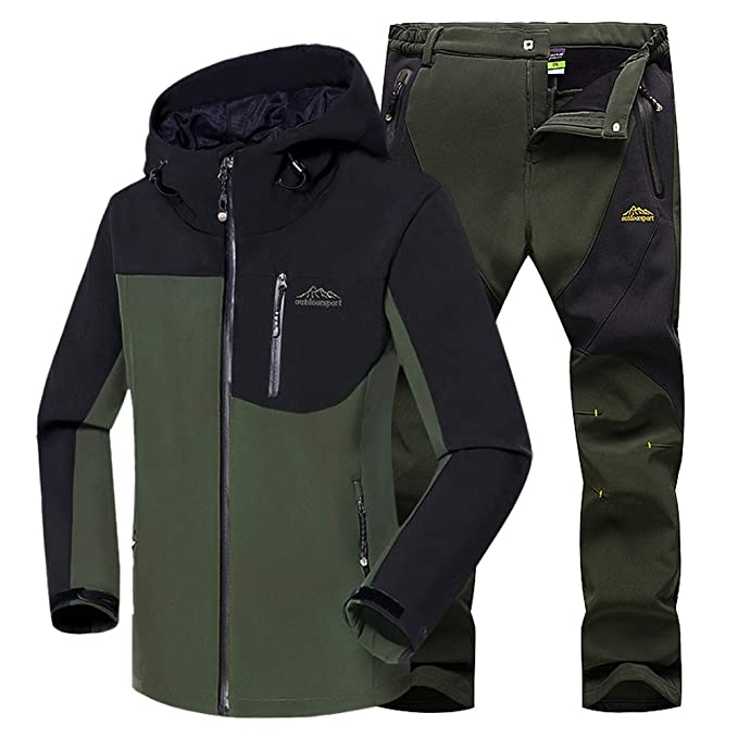 WANPUL Chaqueta Softshell Hombre Pantalon Softshell Conjunto Outdoor Transpirables Chaqueta Montaña Pantalones Montaña: Amazon.es: Ropa y accesorios