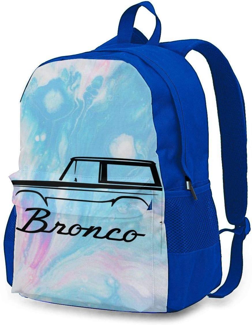 Ford Bronco School Backpack Bookbag Casual Daypack Travel Laptop Backpack for Girls Women Teenagers Blue