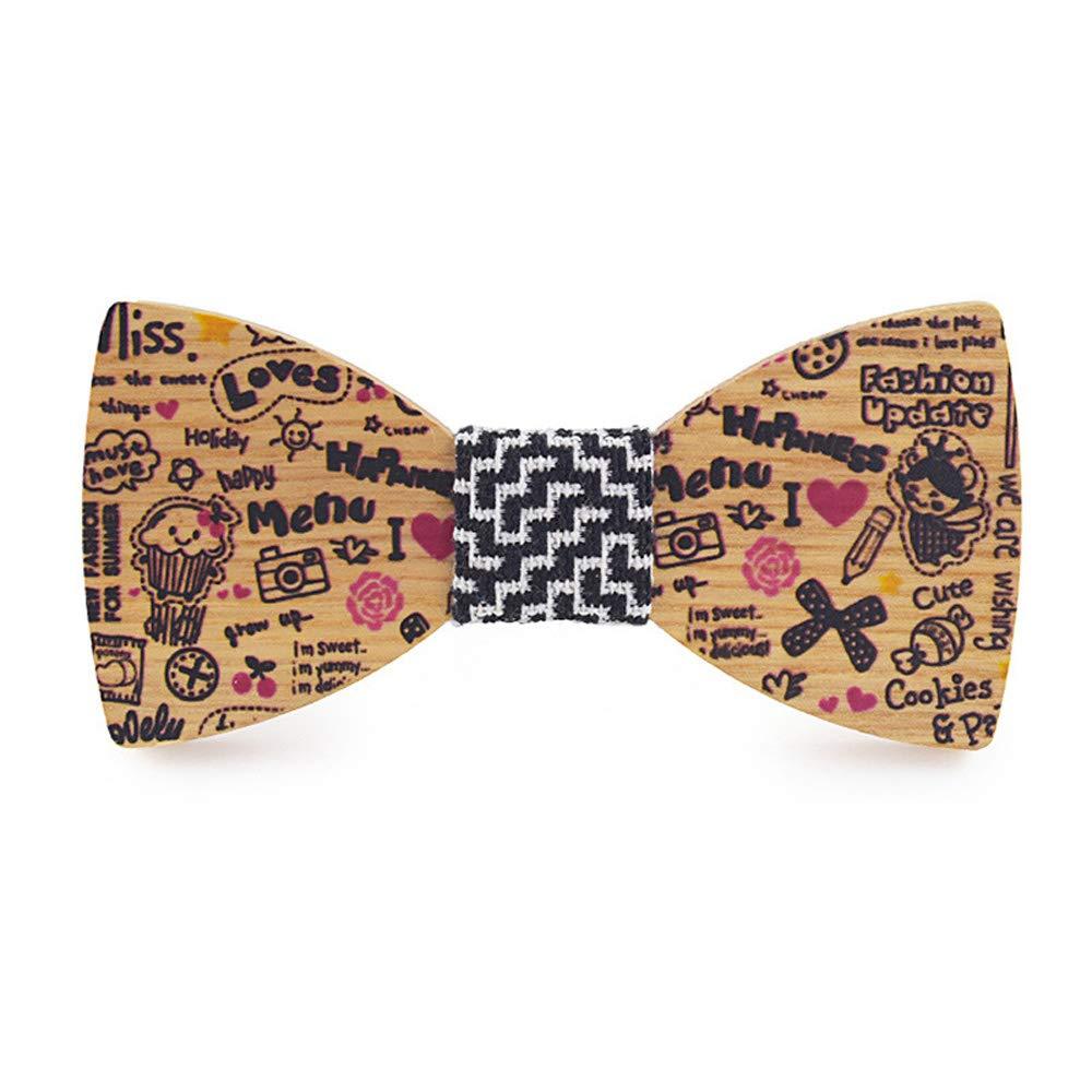 YYX001 Corbata de madera con diseño de Joker salvaje, corbata de ...