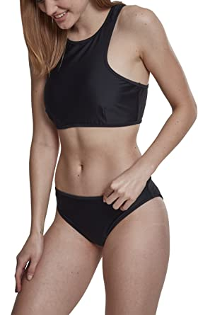 Urban Classic Women s Ladies Surf Bikini Set Black  Amazon.co.uk ... cad593286
