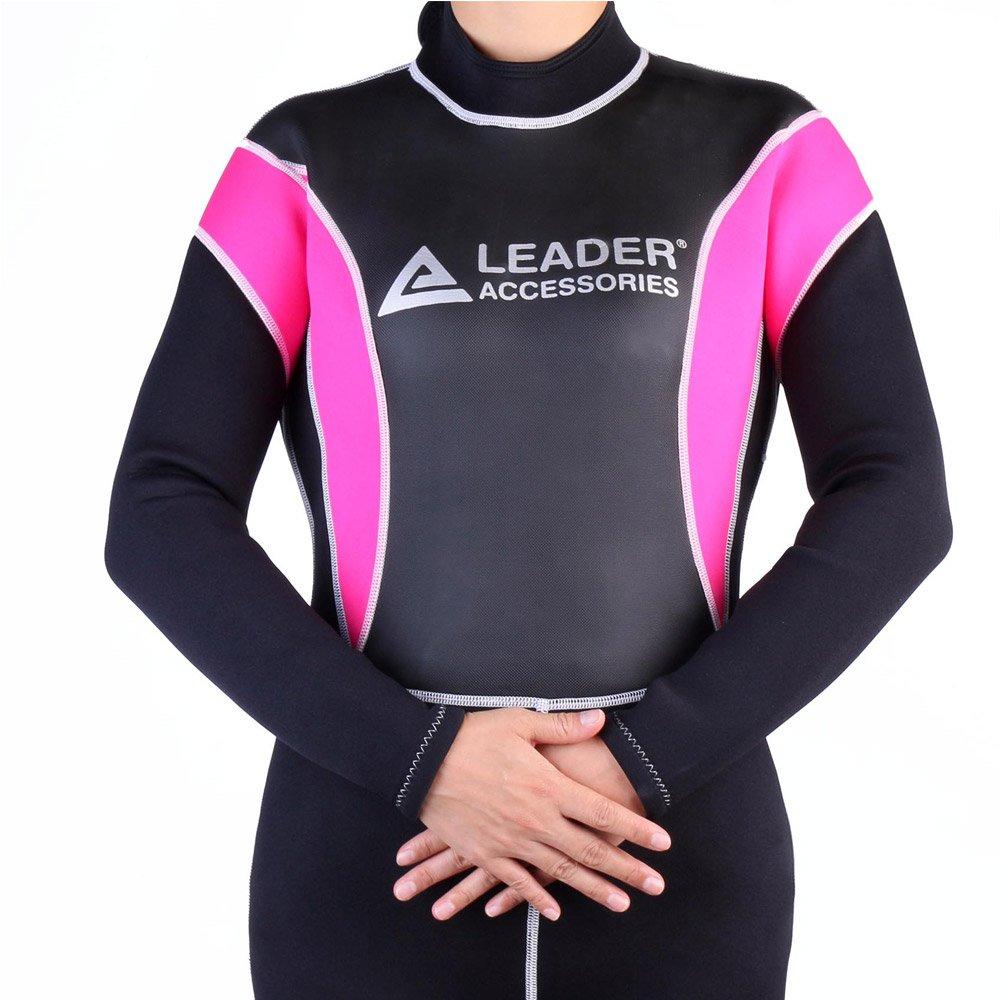 Amazon.com  Leader Accessories Women s Wetsuit 2.5mm Black Pink Fullsuit  Jumpsuit Wetsuit  Sports   Outdoors 630e797c1