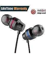 Earbuds, in-Ear Headphones Line-in Microphone, Ergonomic Stereo in-Ear Headphones, Noise Isolating Earphones for Sport, Workout, Travel