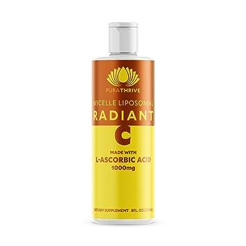 PuraTHRIVE Liposomal Vitamin C 1000 mg Liquid Supplement with Citrus & Vanilla Oil by PuraTHRIVE.