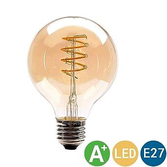 Kaday Bombilla Edison LED Bombilla LED Retro E27 4W Bombilla Globo Decorativa Vintage Estilo Industrial 2700K