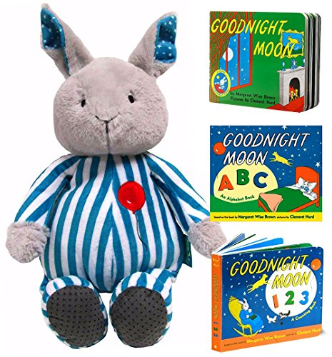 Goodnight Moon Gift Set Cuddle Bunny with 3 Board Books