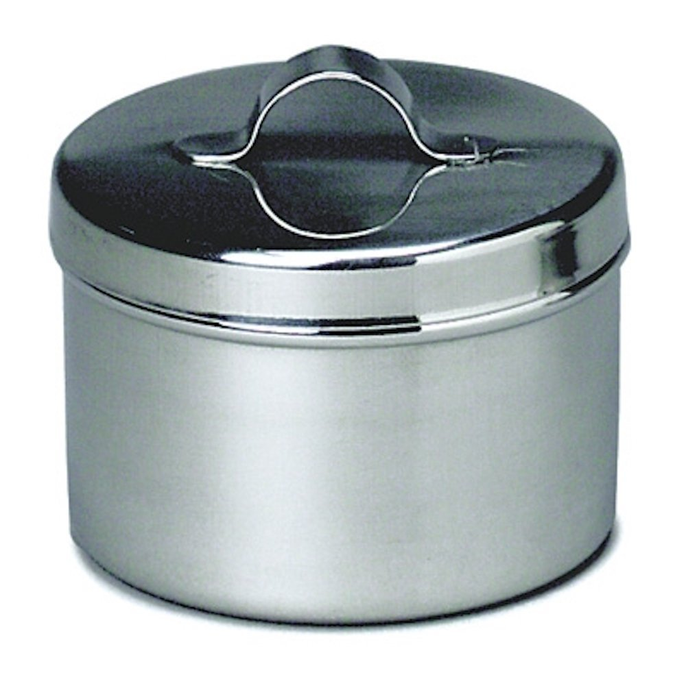 Pivit Antibacterial S.S Ointment Storage Sundry Jar With Strap Handle Cover | 8 Oz, 2 ½'' x 3 1/8'' | Highest Grade (18/8) German Stainless Steel | Easy-To-Clean Seamless Design Prevents Bacteria Growth